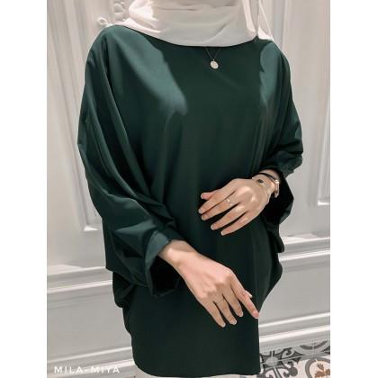 [MILA-MIYA] Oversize Casual Top with puff sleeves